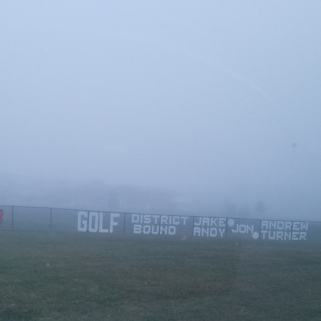 foggy image of school