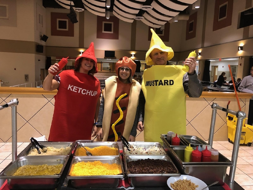 ketchup, dog, and mustard costumes