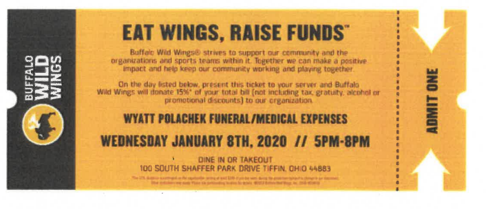 Buffalo Wild Wings Polachek Dine to Donate